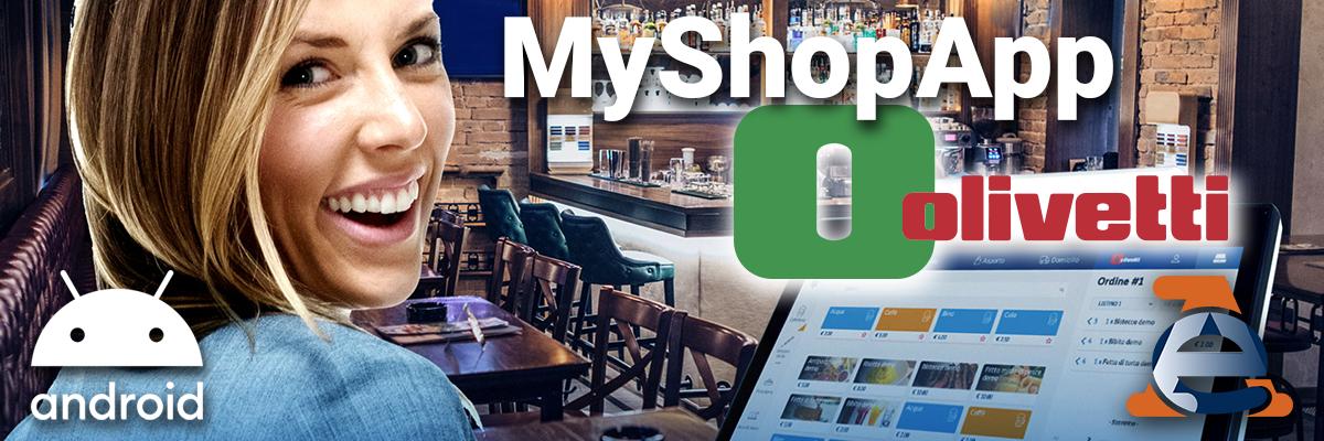 Scopri i prezzi dei Pos Android Touchscreen  della linea Olivetti con soluzioni MyShopApp gestionale per la tua attività commerciale in una App.